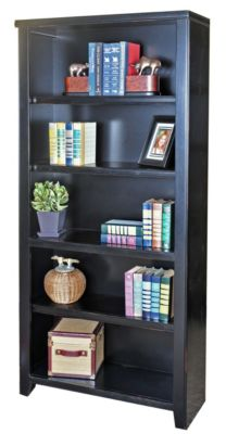 Martin Furniture Tribeca Loft Black 70-inch Bookcase
