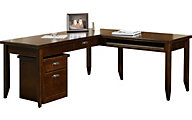 Martin Furniture Tribeca Loft Cherry Table with Return and File