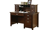 Martin Furniture Tribeca Loft Cherry Desk with Hutch