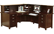Martin Furniture Tribeca Loft Cherry L-Shaped Desk and Hutch