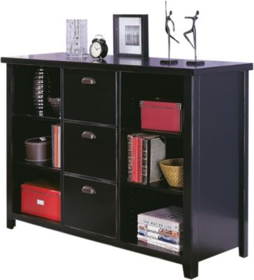 Martin Furniture Tribeca Loft 3-Drawer Bookcase & File Cabinet
