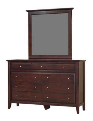 Modus Furniture City II Cocoa Dresser with Mirror