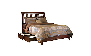 Modus Furniture City II Cocoa Queen Rake Storage Bed