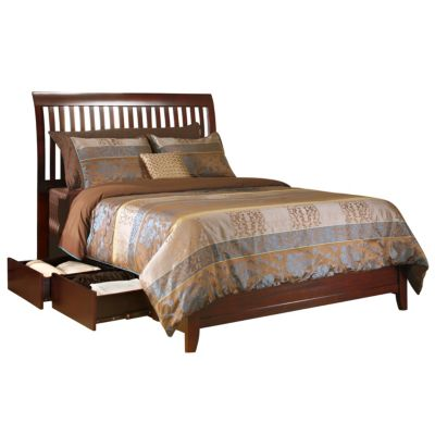 Modus Furniture City II Cocoa King Rake Storage Bed