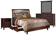 Modus Furniture City II Cocoa 4-Piece King Storage Bedroom Set