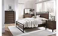 Modus Furniture Prague 4-Piece Queen Bedroom Set