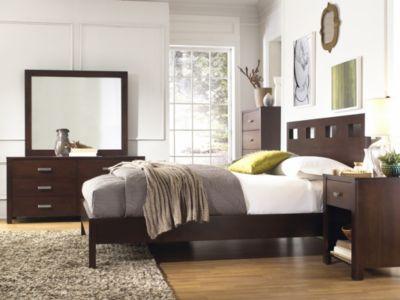 Modus Furniture Riva 4 Piece Queen Platform Bedroom Set