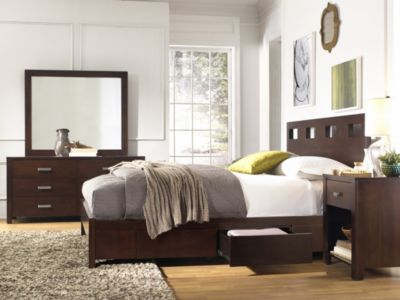 Modus Furniture Riva 4-Piece Queen Storage Bedroom Set