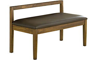 Modus Furniture Alba Bonded Leather Bench
