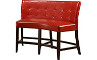 Modus Furniture Bossa Red Counter Banquette
