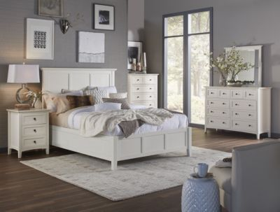 Modus Furniture Paragon White 4-Piece King Bedroom Set
