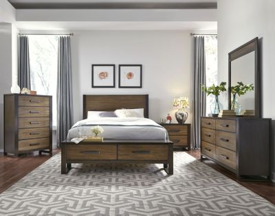 Najarian Hampton 4-Piece King Storage Bedroom Set