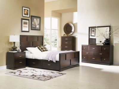 Najarian Key West 4-Piece Queen Storage Bedroom Set