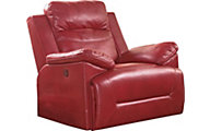New Classic Cortez Red Glider Recliner