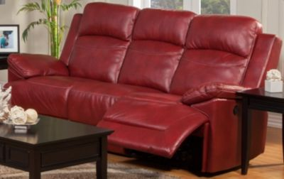 New Classic Cortez Red Power Reclining Sofa