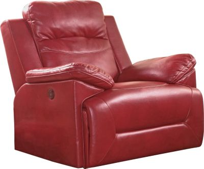 New Classic Cortez Red Power Glider Recliner