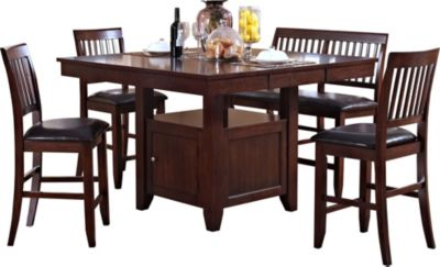 New Classic Kaylee Brown 5-Piece Counter Set
