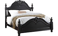 New Classic Jaquelyn Black Queen Bed