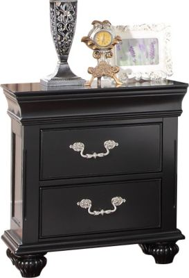 New Classic Jaquelyn Black Nightstand