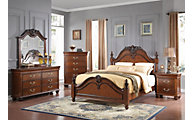 New Classic Jaquelyn Cherry 4-Piece Queen Bedroom Set
