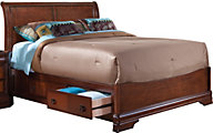 New Classic Sheridan Queen Sleigh Storage Bed