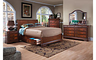 New Classic Sheridan 4-Piece King Sleigh Storage Bedroom Set