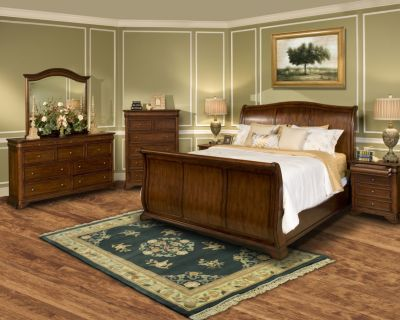 New Classic Whitley Court 4-Piece King Sleigh Bedroom Set