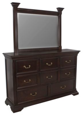 New Classic Timber City Dresser with Mirror