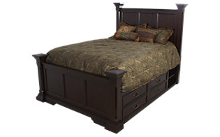 New Classic Timber City King Storage Bed