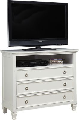 New Classic Tamarack White Media Chest