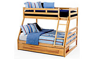 New Classic Casual Oak Twin/Full Bunk Bed