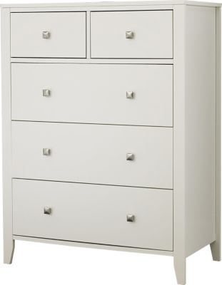 Ne Bedroom Pulse White Kids' 5-Drawer Chest