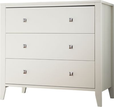 Ne Bedroom Pulse White Kids' 3-Drawer Chest