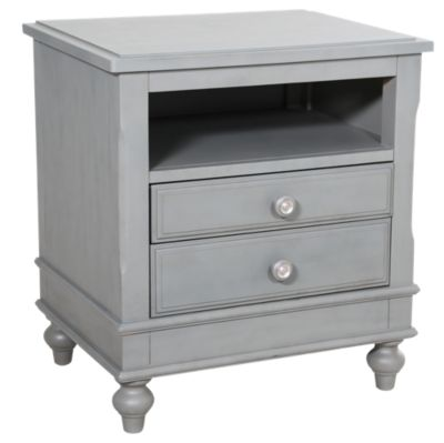 Ne Bedroom Lake House Gray Nightstand