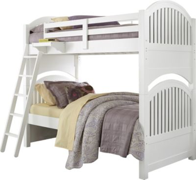 Ne bedroom lake house white twin twin bunk bed homemakers furniture Lake home bedroom furniture
