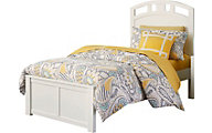 Ne Bedroom Pulse White Twin Panel Bed
