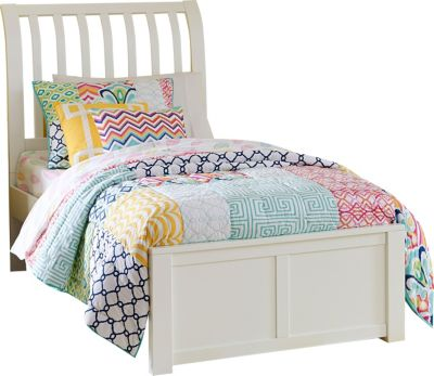 Ne Bedroom Pulse White Twin Sleigh Bed