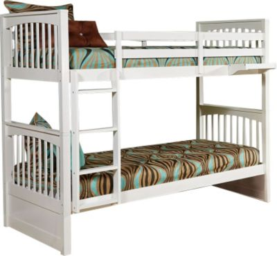 Ne Bedroom Pulse White Twin/Twin Bunk Bed