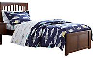 Ne Bedroom Pulse Chocolate Twin Mission Bed