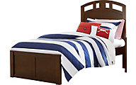 Ne Bedroom Pulse Chocolate Twin Panel Bed