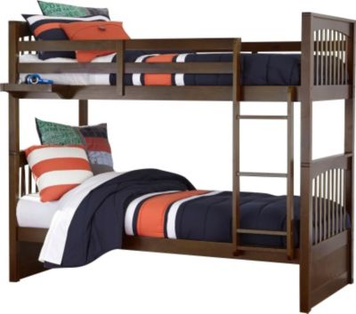 Ne Bedroom Pulse Chocolate Twin/Twin Bunk Bed