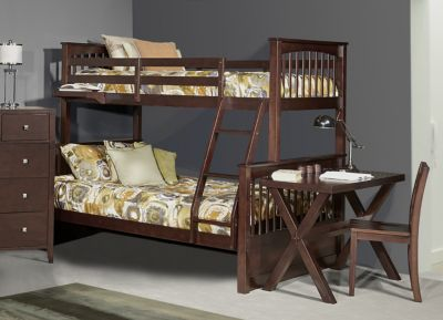 Ne Bedroom Pulse Chocolate Twin/Full Bunk Bed