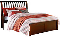 Ne Bedroom Pulse Cherry Full Sleigh Bed