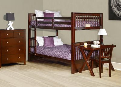 Ne Bedroom Pulse Cherry Full/Full Bunk Bed