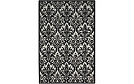 Nourison Damask Black & White 8' x 10'