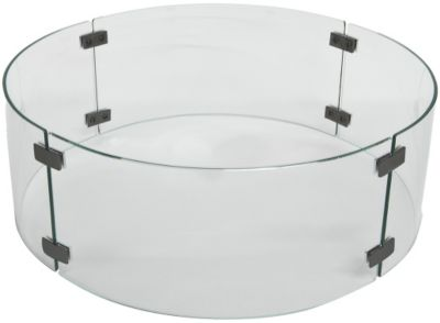 O W Lee Company Large Round Outdoor Fire Pit Glass Wind Guard