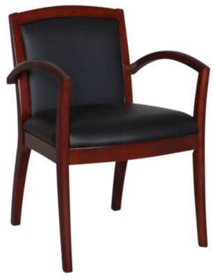 Office Star Napa Mahogany Guest Chair with Padded Back