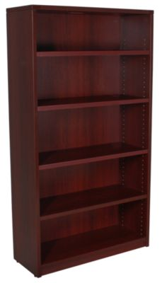 Office Star Napa Mahogany 5 Shelf Bookcase Homemakers