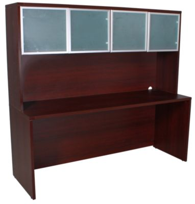 Office Star Napa Mahogany Credenza & Door Hutch