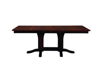 Palettes Rectangular Double Pedestal Table